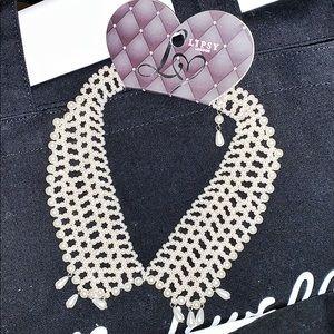 Pearl Necklace Detachable Collar